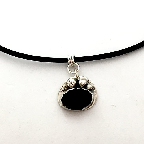 """""""Rockpools II"""" Pendant in sterling silver and beach stone."""