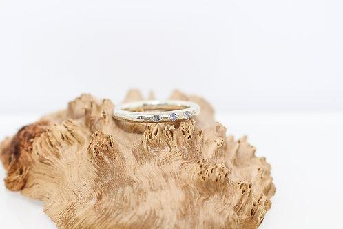 3 x Tanzanite  Sterling Silver Ring
