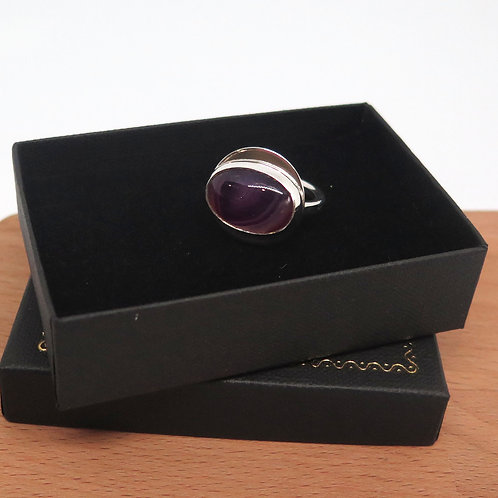 Purple Passion Sterling Silver Ring