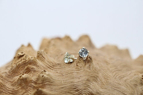 4mm Mint Quartz & Sterling Silver Studs