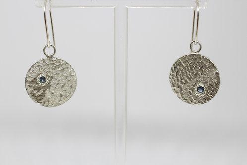 Sapphire & Sterling Silver Earrings