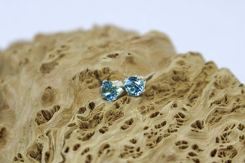 4mm Topaz & Sterling Silver Studs