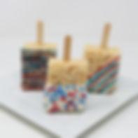 Red, White, & Blue Rice Krispy Pops