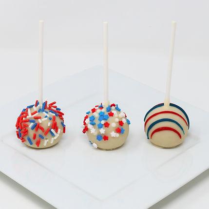 Red,White, & Blue Cake Pops