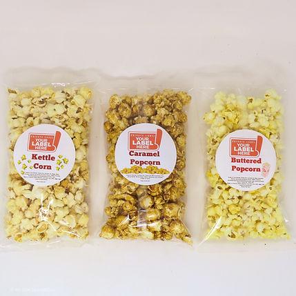 Custom Private Heat Sealed Bags of Popcorn