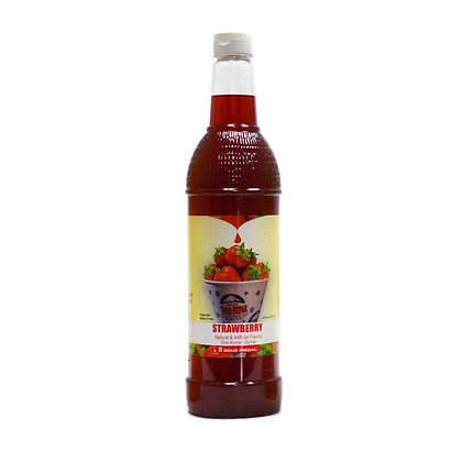 Sno-Kone Syrup - Bottle - Strawberry