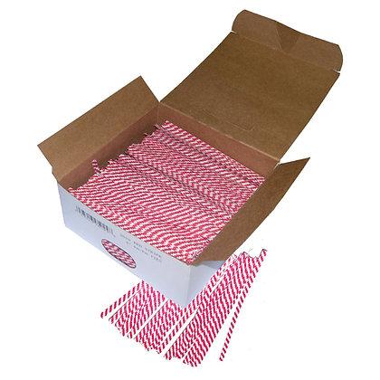 Twist Ties - Red & White Stripe