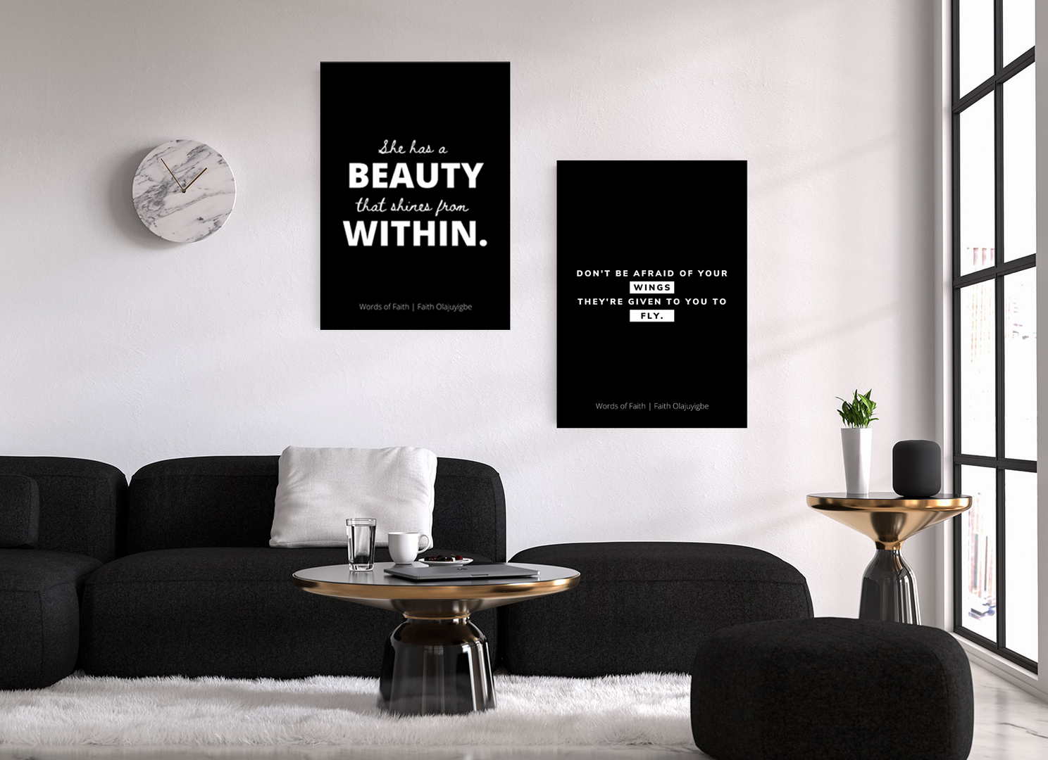 Words of Faith Black Room Decor.png