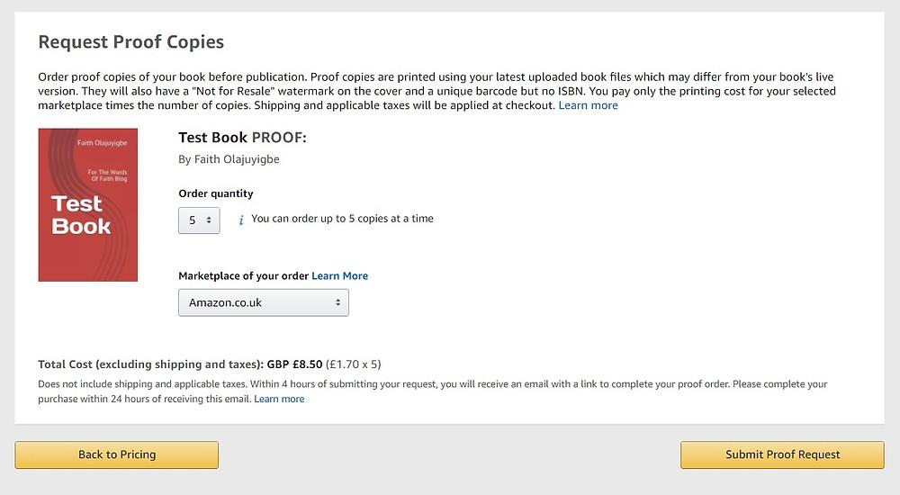 Amazon KDP screenshot 19