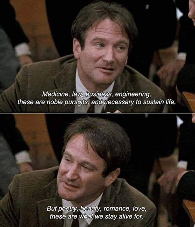 Dead Poets Society Poetry Quote