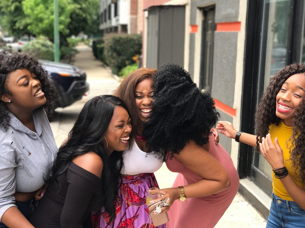 Black women laughing