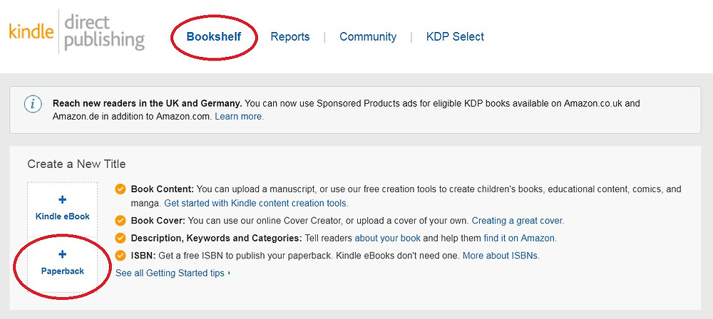 Amazon KDP screenshot 1