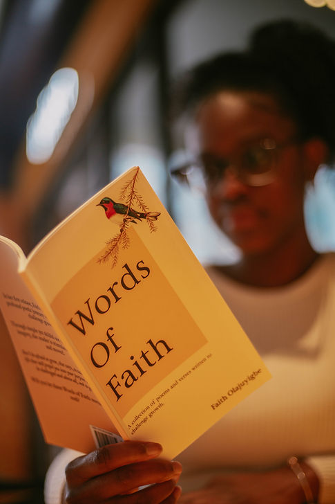 Words of Faith close up