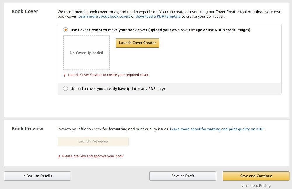 Amazon KDP screenshot 11