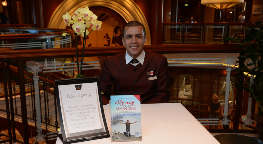 Book Signing on board Queen Elizabeth sh