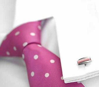 Shirt, tie and cufflinks