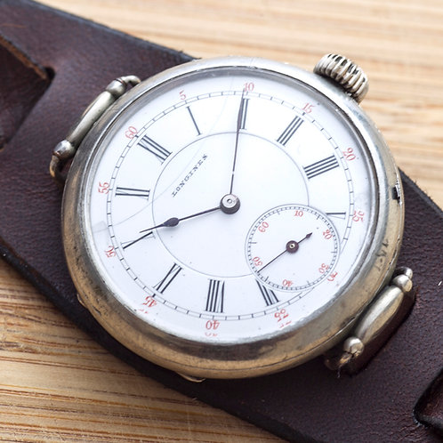 "1895 Longines""Swing Lug"" Trenchwatch"