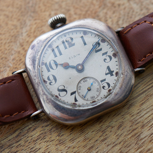 1917 Elgin Pillow Case Trench Watch