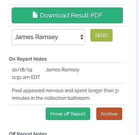 SmartReader drug screen result form