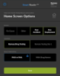 SmartReader options page