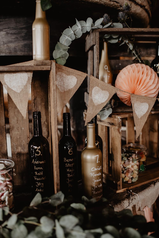 Hochzeit Deko Vintage