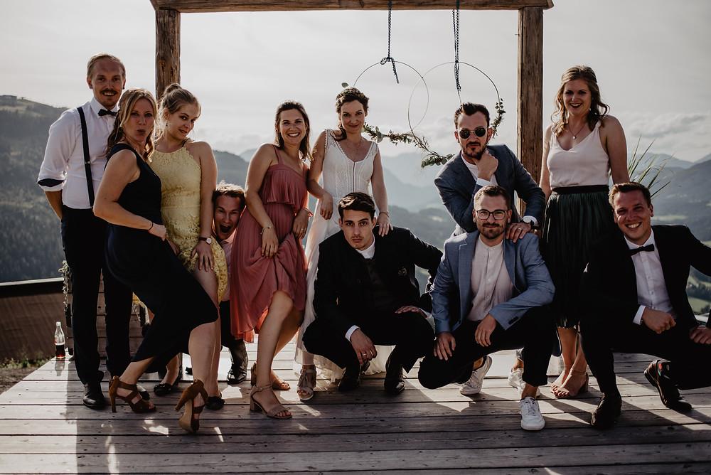 Hochzeit Gruppenbild Farblicht Fotografie