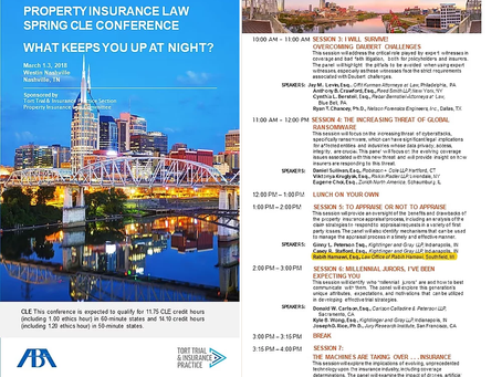 Attorney Rabih Hamawi to speak at the American Bar Association's 2018 Spring Property Insurance Law
