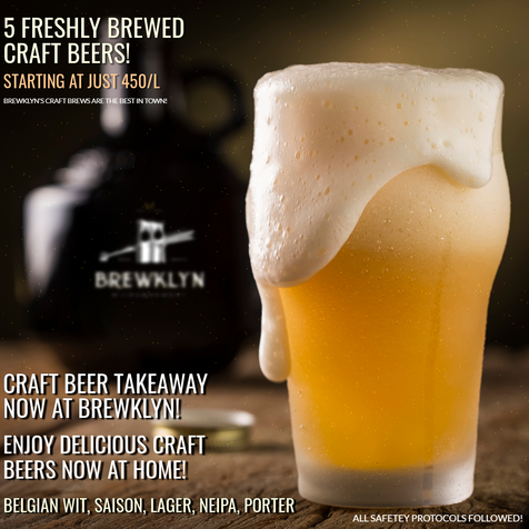 Craft Beer Take Away now at Brewklyn!