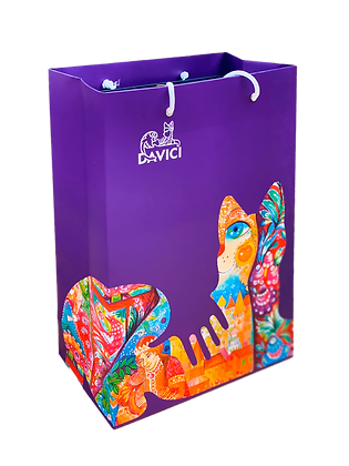 Подарочный пакет DaVICI (фиолетовый)