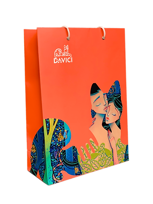 Подарочный пакет DaVICI (коралловый)