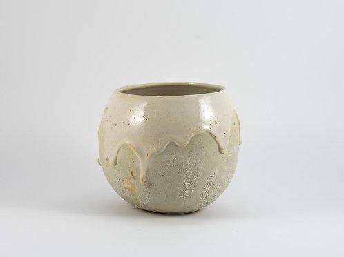 White Disaster Round Bowl Medium