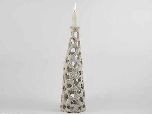 Alveolar Tall Candleholder white