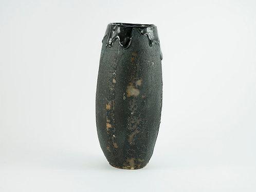 Black Burnt Vase Large