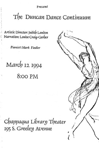Program with drawing by Julia Levien