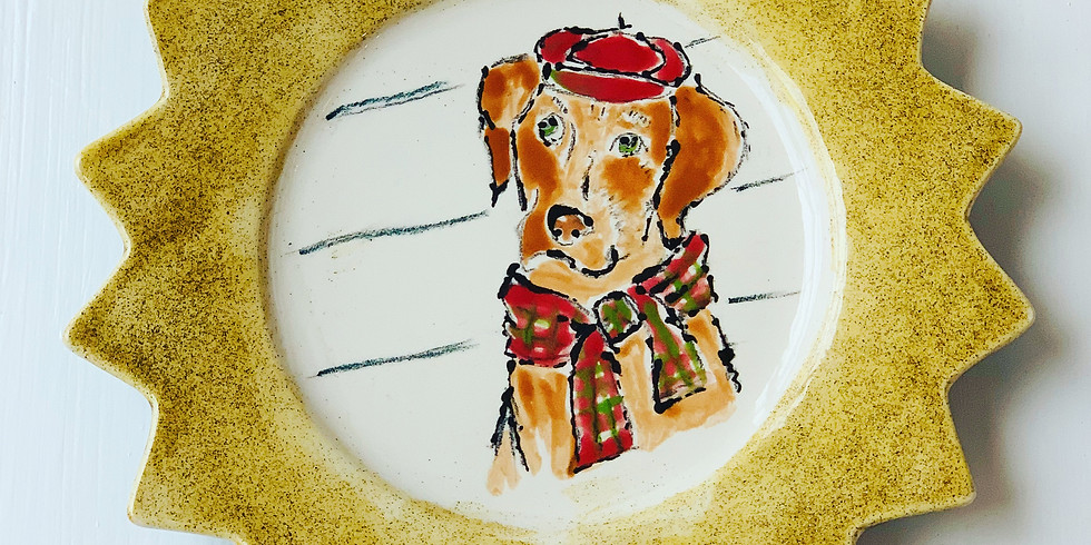 Paint your Xmas cookie plate