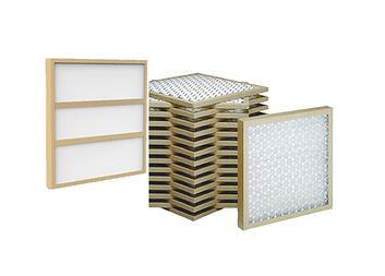 Fiberglass and Polyester Disposable Panel Air Filters