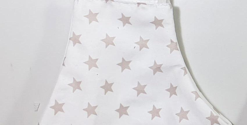 מסיכת בד רב-פעמית לבן כוכבים קאמל