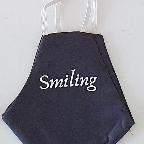 SMILING מסיכת בד רב-פעמית