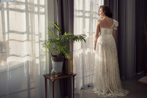 שמלת כלה מידות גדולות גב פתוח