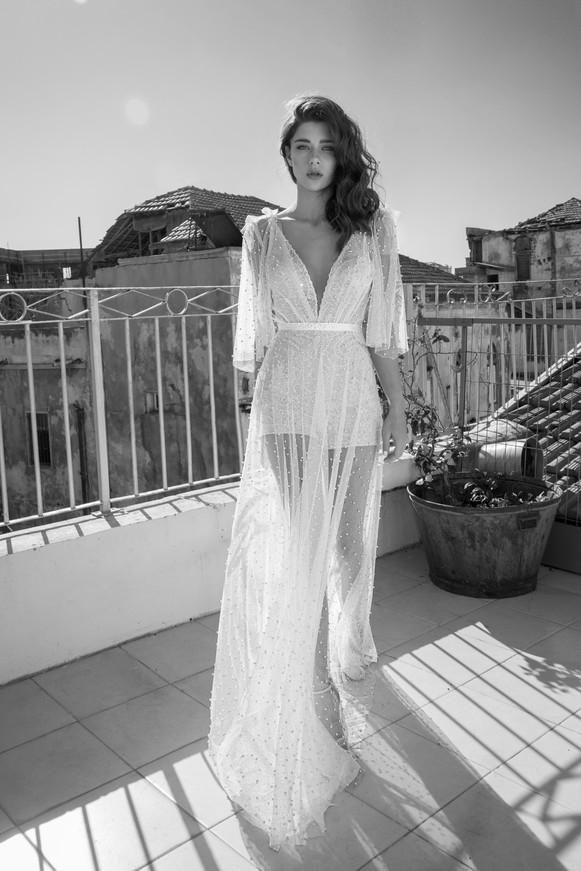 שמלת כלה טול חרוזים מושלמת