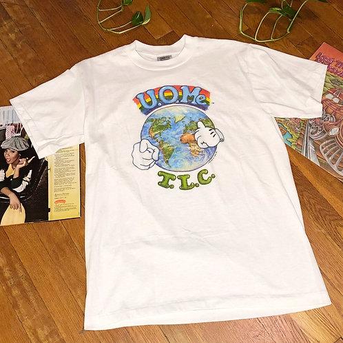 "Vintage 90s Deadstock ""U O Me TLC"" Short Sleeve T-Shirt"