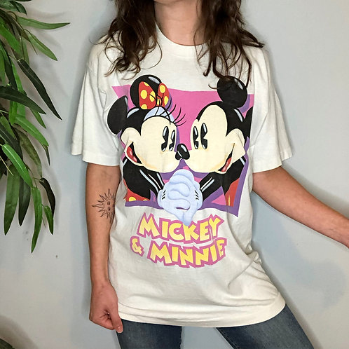 Vintage Mickey and Minnie Mouse Short Sleeve T-Shirt
