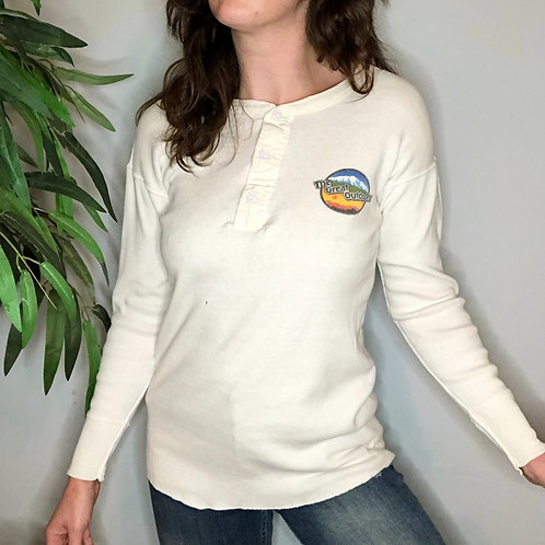 Vintage Ribbed The Great Outdoors Henley Shirt