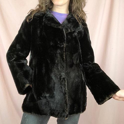 Vintage 60s Brown Fur Short Coat Jacket