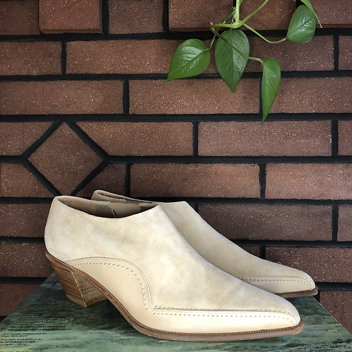 Italian Suede and Leather Ankle Booties