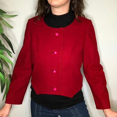 60s Cropped Wool Blazer / Jacket