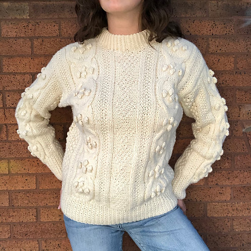 Vintage Hand-Knit Wool Sweater