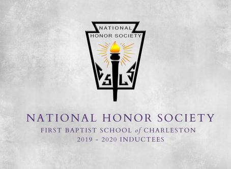 2019-2020 National Honor Society Inductees