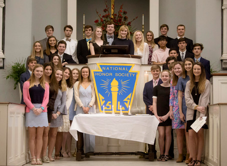 Congratulations to the 2019 NJHS and NHS Inductees