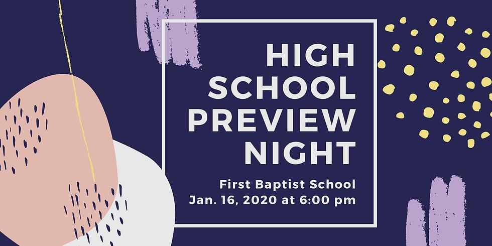 High School Preview Night